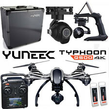 YUNEEC Q500 4K Typhoon Quadcopter BLACK EDITION + Grip+Case+Extra Battery