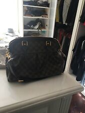 LOUIS VUITTON Brown Damier Ebene Trevi PM Monogram Canvas Shoulder Bag Purse