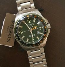 Shinola / FILSON JOURNEYMAN WATCH 44M with Green & Silver Face