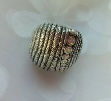 """Silpada .925 Sterling Silver Cubic Zirconia """"In The Groove"""" Ring SZ 10 R2981"""