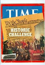 1973 Time Magazine: Constitution Cover/Historic Challenge Nixon Watergate 6y7u