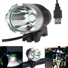 3 Modes USB CREE XM-L Q5 XPE 400Lm LED Bicycle Light Headlamp Bike Headlight Hot