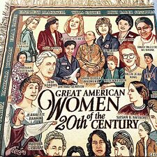Great American Women Throw Blanket Woven Tapestry Feminist Womens Studies