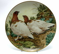The Forest Year Collectors Plate PTARMIGANS SHOW OF NOVEMBER PLUMAGE