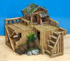 Wooden House Hut Aquarium Ornament Fish Tank Bowl Decoration Classic New
