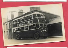 TROLLEY BUS YORKSHIRE WITH LITTELWOODS AD ORIGINAL VINTAGE OLD PHOTO 14x9cm RM