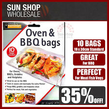100% Genuine! PLANIT Oven & BBQ Bags Pack of 10 Standard 19 x 30cm! RRP $19.95!