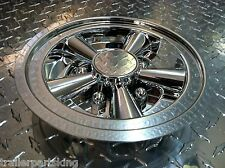 "(2) 8"" Chrome Trailer Wheel Hub Cap Rim Covers SHARP!! Phoenix USA QT8CHM"
