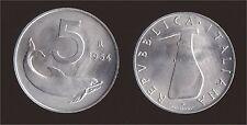 5 LIRE 1954 DELFINO E TIMONE - ITALIA FIRMA A 1 mm DA BORDO FDC FIOR DI CONIO