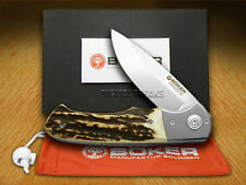 BOKER TREE BRAND Genuine Deer Stag Folding Titan Hunter Pocket Knives Knife