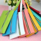 Women Men Card Holder Wallet Coin Purse Clutch Zipper Leather Small Change Bag