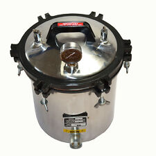 18L AUTOCLAVE STERILIZER DENTAL MEDICAL TATTOO STERILIZATION PRESSURE STEAM