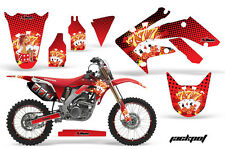 AMR Racing Graphic Decal Number Plate Kit Honda CRF 250R Sticker Wrap 04-09 JP R