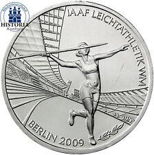 Deutschland 10 Euro Silber 2009 bfr IAAF Leichtathletik-WM Mzz. G