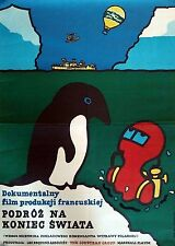 Original Polish Movie Poster by Jan Mlodozeniec, Voyage to the End of the World