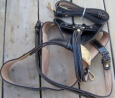 Civil War Black Leather Sword Belt With Shoulder Strap 01