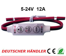█► mini Dimmer Controlador regulador para LED strip LED tiras 5 - 24v hasta 12a