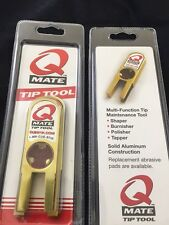Q Mate Tip Tool Shaper - The Ultimate Tool For Pool Cue Tips - Solid Aluminum
