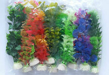 10pcs Submarine Aquarium Ornaments Plastic Artificial Aquarium Plants For Fish
