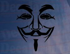 ANONYMOUS MASK Novelty Car/Van/Truck/Bumper/Window/Laptop Vinyl Sticker/Decal