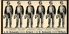 J.C. Schmidt Erfurt le ultime cotillon-Un viaggio storico la pubblicità di 1899