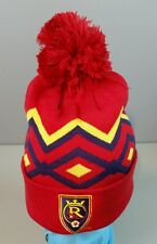 MLS ADIDAS REAL SALT LAKE CUFFED NIT HAT WITH POM STITCHED LOGO, ONE SIZE. NEW