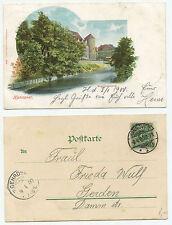 16195 - Hannover, Beguinenturm - Lithographie, gelaufen 8.4.1900 nach Gehrden