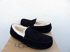 UGG ASCOT BLACK SUEDE/ SHEEPSKIN SLIPPERS, MENS US 13/ EUR 47 ~ RUN SMALL ~NIB