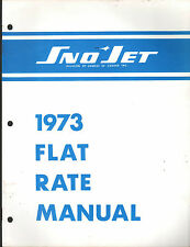 1973 YAMAHA SNOWMOBILE SNO JET  FLAT RATE MANUAL P/N 209304
