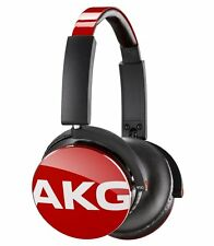 AKG Y50 Red On-Ear Headphones Headset In-Line One Button Universal Rimote Mic