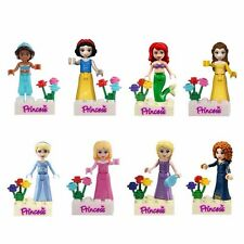 Princess Girls Series Lot of 8 Set Mini Figures Building Block Toy Kids Gift New