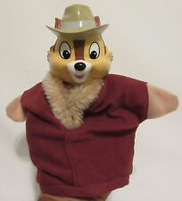 RARE! Disney Chip and Dale Rescue Ranger Chip Hand Puppet Vinyl Cloth Body 9.5""