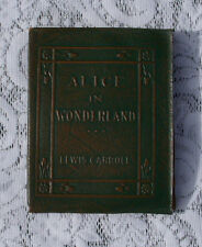 ALICE'S ADVENTURE IN WONDERLAND by LEWIS CARROLL ~GREEN Little Leather Library