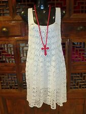 Cool White M/L Lined Crochet Dress Great For Summer/Beach/Holidays Last One!!!!