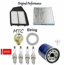 Tune Up KIT Cabin Air Oil Filters Plugs for Honda Crosstour L4; 2.4L 2012-2014
