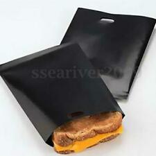 2x Reusable Toaster Bags Toastie Sandwich Toast Pizza Pitta Pockets 17x19cm