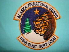 AIR NATIONAL GUARD WH PATCH US 176th COMBAT SUPPORT SQUADRON ALASKA