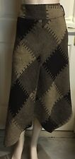 Just Hot Asymmetrical Skirt Fully Lined Sz 12 Winter Weight
