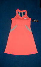 CORAL ORANGE FLATTERING FILA TENNIS DRESS W/BRA OUTFIT SIZE 12 - 14 LARGE NWT