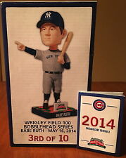 "CHICAGO CUBS BABE RUTH ""CALLED SHOT"" STADIUM GIVEAWAY BOBBLEHEAD! 5/16/14 MINT!!"