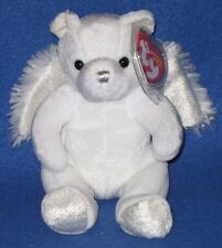TY HEAVENLY the ANGEL BEAR BEANIE BABY - MINT with MINT TAG