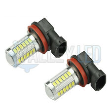 Qashqai 07-on J10 Bright LED Front Fog Light H11 31w 33 SMD lens White Bulbs
