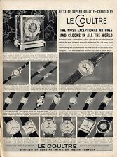 1953 Le Coultre Watches & Clock 17 Styles Great detailed Documentation PRINT AD
