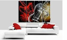 New !!! Modern Abstract Huge Wall Art Oil Painting On Canvas 4pc(No Frame)