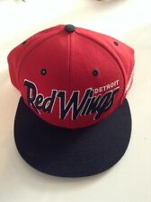 Detroit Red Wings 47 Brand Red Black Nhl Snapback Hat One Size Fits All