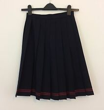 "Authentic Japanese school girl uniform skirt, waist 60cm - 23.6"", used (Q1079)"