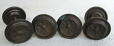 CIRCA 1780 -1830 (4) RARE ANTIQUE FEDERAL COLONIAL BRONZE EAGLE KNOB PULLS