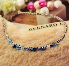 1pc Blue Crystal Rhinestone Love Barrette Clip Hair Band Chic Lady Girl Headband