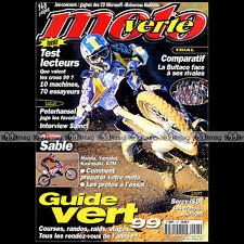 MOTO VERTE N°297 SAINCT PETERHANSEL BULTACO 250 SHERCO BETA RALLYE DAKAR 1999