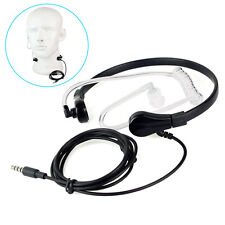 1 Pin 3.5mm Throat MIC Headset Covert Air Tube Earpiece for iPhone Mobile Phone